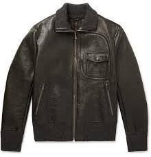 latest bottega veneta coats jackets er jacket dark green waxed leather in men mens