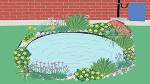 how to make a mini wildlife pond from
