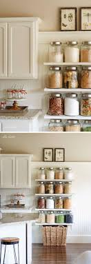 organize kitchen office tos. Floating Shelves In The Kitchen With Glass Jars Looks Great! Organize Office Tos