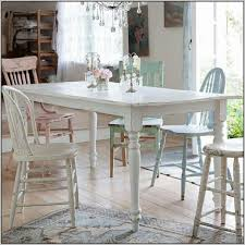 White Shabby Chic Dining Room Table And Chairs Home.