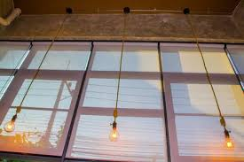 coffee shop lighting. Roll Blinds To Protect Sunlight And Lighting Decorate The Coffee Shop.  Stock Photo - Shop