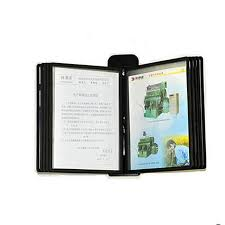 A4 Pageflip Page File Holder Wall Mounted Display Rack Black