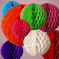 paper honeycomb ball lantern pom pom wedding party birthday decoration