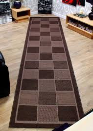 vibrant extra wide runner rug checd brown or cream long hallway