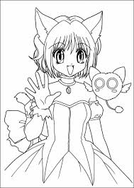 Anime Color Pages Anime Girls Coloring Pages Free Coloring Pages