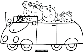 Peppa Pig Coloring Pages To Print Pig Coloring Pages Colouring ...