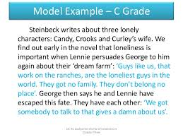 of mice and men loneliness theme essay of mice and men loneliness essay of mice and men loneliness essay snur gallvro questions on