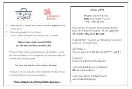 the bag project book drive