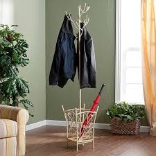 Metal Tree Coat Rack Mudroom Wet Umbrella Stand Self Standing Coat Rack Heavy Coat 58