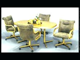 rolling dining chairs. Dining Room Chairs With Arms And Wheels Rolling Retro .
