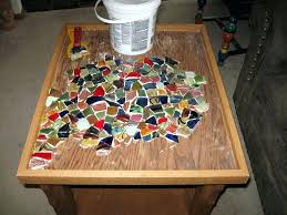 mosaic table top diy mirror mosaic table top