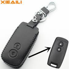 XIEAILI Genuine <b>Leather Remote</b> Control 2Button <b>Smart Key</b> Case ...