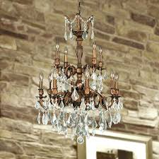 2 light chandelier light french gold finish and clear crystal chandelier two 2 tier 2 light