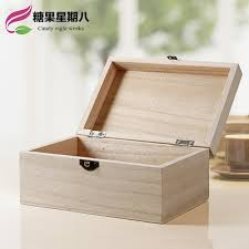 d direct dandelion pattern lock box small wooden box finishing desktop storage box of paulownia