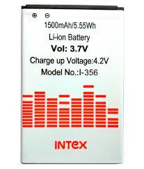 Lava Iris 356 1500 mAh Battery by Intex ...