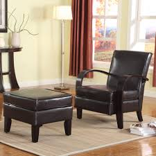 Living Room Arm Chairs Latitude Run Papillion Bonded Leather Arm Chair With Ottoman