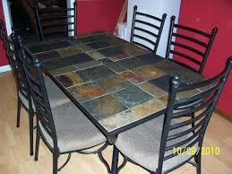 tile top dining table. Astonishing Tile Top Dining Table Slate Set Design Ideas Metal Patio Of Kitchen Trends And Dinette
