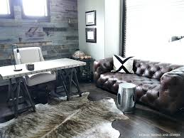 rustic modern office. brilliant office brown leather chesterfield sofa for rustic modern office