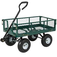 best choice products heavy duty steel garden wagon lawn utility cart w 400lb capacity
