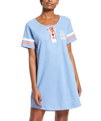 U S Polo Assn Blue Tie Accent Sleep Dress Women