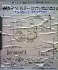 wiring diagrams and schematics appliantology kenmore dryer mod 110 86874100 schematic
