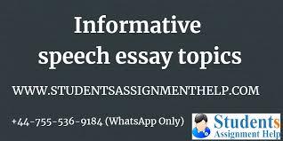 Creative Informative Speech Topics For College Students 2019
