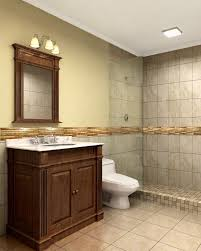 Bathrooms Design : Frameless Shower Doors Matched With Tan Wall ...