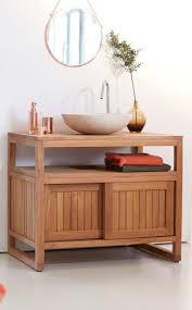 Badezimmer Unterschrank Holz Hängend