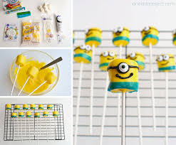 minion marshmallow pops these minion marshmallows are easy to make and they look so cute