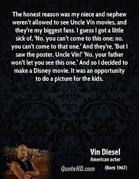 Vin Diesel Quotes QuoteHD Stunning Niece And Nephew Quotes
