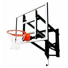 goalsetter garage wall mount basketball goal system glass 32l x 48w in