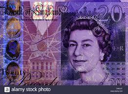 Fake 20 Pound Note Under Uv Light Ultraviolet Light Banknote Stock Photos Ultraviolet Light