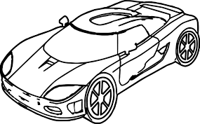 Coloring Page Marvelous Sports Car Coloring Pages Page Race