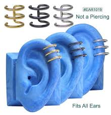 ear gauging chart actual size ear designs for 14 gauge size ear hole gem bling scorpion spider