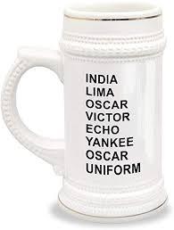 Compare ipa phonetic alphabet with merriam webster pronunciation symbols. Amazon Com Phonetic Alphabet Beer Mug Military Code Gift India Lima Oscar Victor Echo Yankee Uniform Beer Mugs Steins