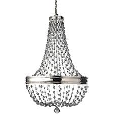 malia large 8 light nickel chandelier with smoked crystal droplets