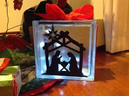 diy lighted glass block decoration