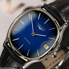 17 best ideas about mens dress watches omega longines automatic date blue dial rare swiss mens vintage used dress watch