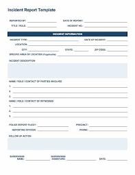 Free Incident Report Templates Forms Smartsheet