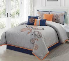 comforter set blue bedding sets bright orange comforter sets orange bedding full size bed comforter