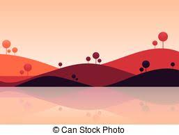 simple nature background. Beautiful Background Natural Landscape Background Mountain Scenery Vector Illustration In Simple Nature Background D