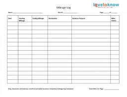 Mileage Log Templates Business Mileage Log Gratulfata