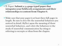 nonverbal observation paper instructions  nonverbal observation paper instructions
