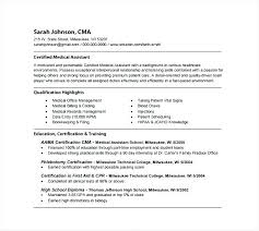 Free Medical Assistant Resume Template Inspiration Medical Assistant Resumes Receptionist Resume Templates Medical