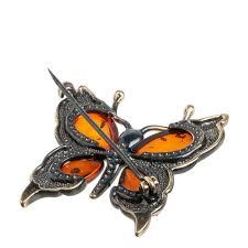 <b>Брошь</b> Art East, Бабочка, 3,5 см f40f664a купить по выгодной цене ...