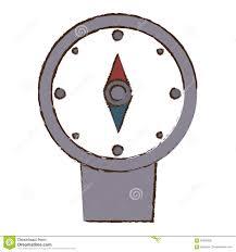 эскиз цвета перемещения Gps положения компаса иллюстрация штока