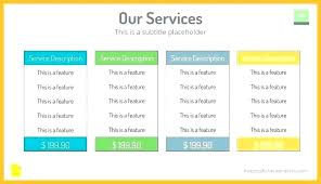 Pricing Template For Services Price Proposal Template