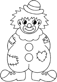Small Picture Clown Coloring Pages Coloring picture of a badly equipped clown