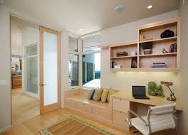 beautiful home office wall. Beautiful Home Office With Wall Desk