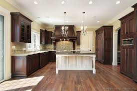 Small Picture Traditional Dark Wood Cherry Kitchen Cabinets Kitchen Design